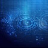 Globalnej technologii cyfrowy tło ilustracji