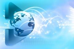 Globalni związki. Digital ziemia Zdjęcia Stock