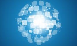 Globalny cyfrowy tło Zdjęcia Stock