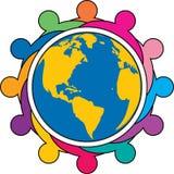 Globalny drużynowy logo ilustracja wektor