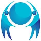 Globalny drużynowy logo ilustracji