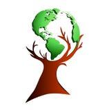 globalny drzewo ilustracja wektor