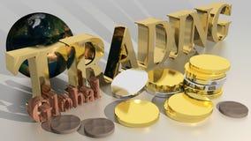 Globalny handel - elementy ten wizerunek meblujący NASA Zdjęcia Stock
