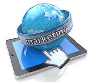 Globalny marketing z pastylka komputerem Zdjęcie Stock