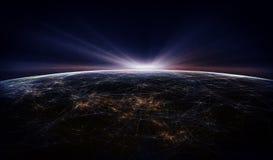 Globalny Międzynarodowy łączliwości tło ilustracja wektor