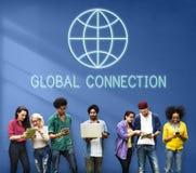 Globalny Na całym świecie Podłączeniowy Światowy Międzynarodowy pojęcie Obraz Royalty Free