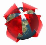 Globalny nagrzanie obraz stock