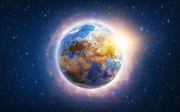 Globalny nagrzanie na ziemi ilustracja wektor