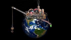Globalny nagrzanie, zmiana klimatu, zanieczyszczenie, środowisko, ziemia, planeta ilustracji