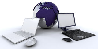 globalny networking Fotografia Royalty Free