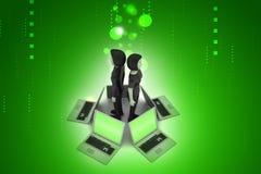 Globalny networking system Obrazy Royalty Free