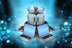 Globalny networking system Zdjęcia Royalty Free