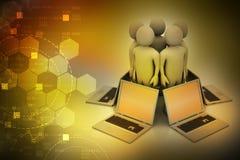 Globalny networking system ilustracja wektor