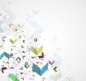 Globalny nieskończoności informatyki pojęcia biznesu tło Zdjęcia Stock