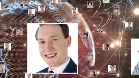 Globalny og?lnospo?eczny networking royalty ilustracja