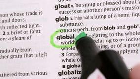 Globalny okrążający w zielonym highlighter zdjęcie wideo