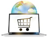 Globalny Online zakupy Obrazy Stock