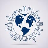 Globalny panorama projekt Obraz Royalty Free