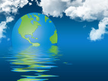 globalny pojęcia nagrzanie ilustracja wektor