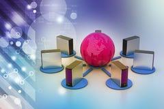 globalny pojęcie networking Fotografia Stock