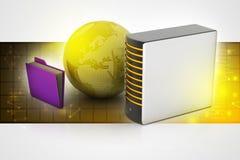 globalny pojęcie networking ilustracja wektor