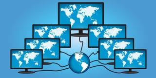 globalny pojęcie networking Obrazy Royalty Free