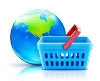 globalny pojęcie zakupy Zdjęcia Stock