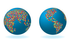 Globalny set z map seriami Zdjęcie Stock