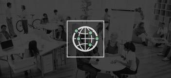 Globalny społeczność zawody międzynarodowi Na całym świecie świat Łączący Zdjęcia Stock