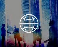 Globalny społeczność zawody międzynarodowi Na całym świecie świat Łączący Obrazy Stock