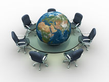 globalny spotkanie royalty ilustracja