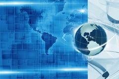 Globalny techniki tło ilustracji