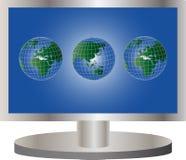 globalny tv royalty ilustracja
