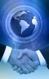 globalny uścisk dłoni ilustracji