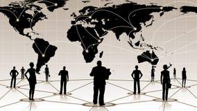 Globalny związek ludzie ogólnospołecznej biznesowej sieci Obrazy Stock