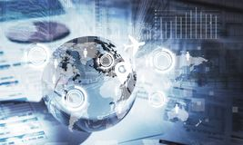 Globalnych komunikacj ilustracja i pojęcie Zdjęcie Stock