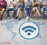 Globalnych komunikacj technologii bezprzewodowej związku pojęcie Zdjęcia Stock
