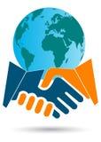 globalt affärsavtal Arkivbilder