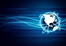 Globalt begrepp för internet Arkivfoto
