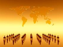 globalt ditt lagteamworarbete Arkivbilder