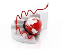 Globalt finansdiagram Arkivfoto