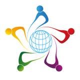 globalt folk vektor illustrationer
