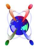 Globalt folk Royaltyfri Bild