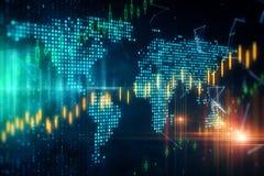 Globalt handel- och finansbegrepp stock illustrationer