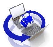 globalt internetnätverk Fotografering för Bildbyråer