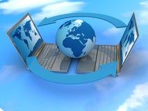 globalt internetnätverk Arkivbilder