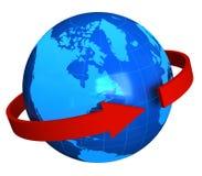 globalt kommunikationsbegrepp Arkivbild