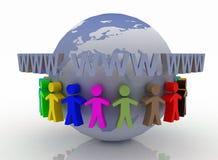globalt kommunikationsbegrepp Fotografering för Bildbyråer