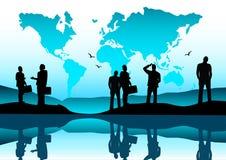 globalt lag för affär royaltyfri illustrationer