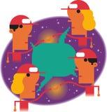 Globalt leveransnätverk vektor illustrationer
